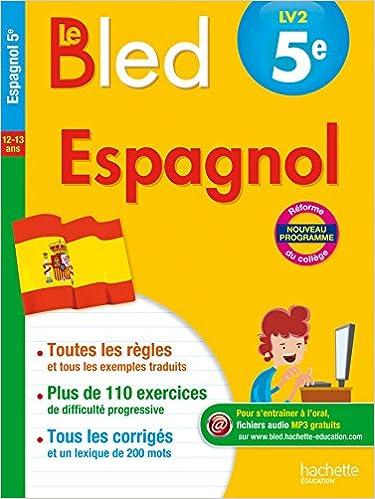 Amazon Fr Cahier Bled Espagnol 5e Ana Bessais