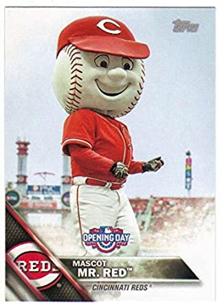 Amazoncom 2016 Topps Opening Day Mascots M 5 Mr Red Reds