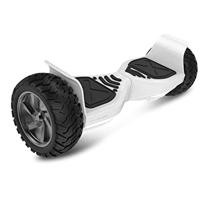 """City Cruiser 8.5\"""" Self Balance Scooter Hoverboard - UL2272 Certified, Two Wheel Dual Motors Electric Self-Balancing Scooter with Bluetooth Speaker LED Lights for Kids Adult (White): Sports & Outdoors [5Bkhe1004620]"""