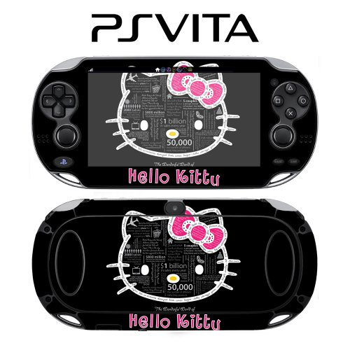 Sony PlayStation PS Vita Decorative Video Game Skin Hello Kitty Typography Wonderful World