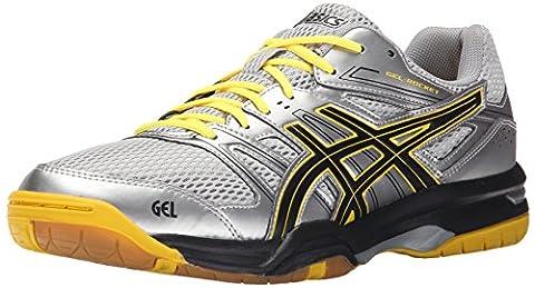 Asics Men's Gel-Rocket 7 Indoor Court Shoe, Silver/Onyx/Neon Yellow, 7 M US (Rockets Neon)