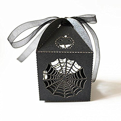 Tinksky 50pcs Halloween Party Gift Favor Candy Boxes - Cobweb Style Hens Night Out Fun Favors -