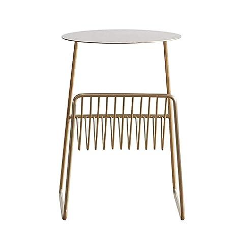 Amazon.com: Mesa esquinera de hierro pequeña mesa de café ...