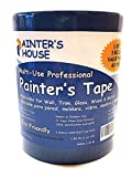 "professional house painters Painter's Tape,Blue Painters Tape 2 inch,3 Pack(1.88""x 60 Yards)180 Yards Total-Medium Adhesive-No Residue Behind-Professional Masking Tape-Blue Scotch by Painter's House"