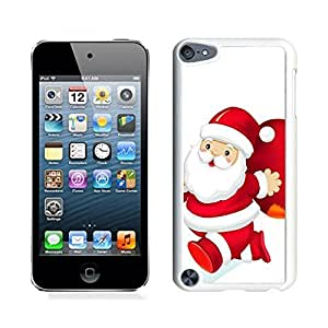 MEIMEIIpod 5 Cases,Christmas Santa Claus Red Gift Bag White Hard Shell Plastic Apple Ipod Touch 5th CasesMEIMEI