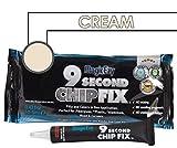 MagicEzy 9 Second Chip Fix (Cream) - One Part Fiberglass Repair Kit Fixes & Colors Chips, Scrapes & Drill Holes Fast