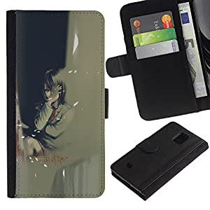 EJOY---Tirón de la caja Cartera de cuero con ranuras para tarjetas / Samsung Galaxy S5 Mini, SM-G800 / --Otro
