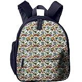 super mario sleeping bag - Haixia Kid Boys&Girls Bookbag with Pocket Abstract Surf Themed Vibrant Image Vintage Van and Flower Arrangement Seagulls Action Hobby Decorative