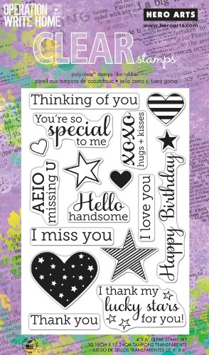(Hero Arts Year Round Sentiments OWH Polyclear Stamp Set)