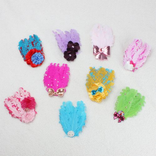 Lovely Ovely Unusal Cotton Girls Baby Feather Hairband Bow Headband