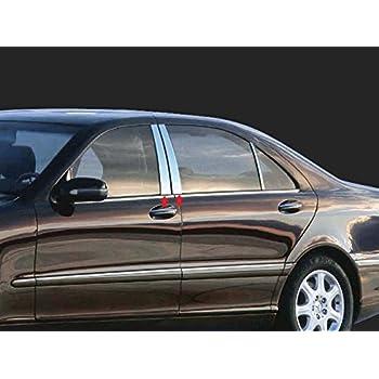 QAA FITS E Class 2010-2016 Mercedes 6 Pc: Stainless Steel Pillar Post Trim Kit, 4-Door, Sedan PP10061