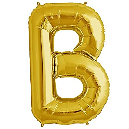 happy birthday alphabet letter b gold foil balloons for birthday party wedding engagement baby