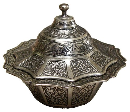 Antique Candy Dish (Ottoman Style Engraved Copper Sugar Turkish Delight Candy Bowl (Antique)