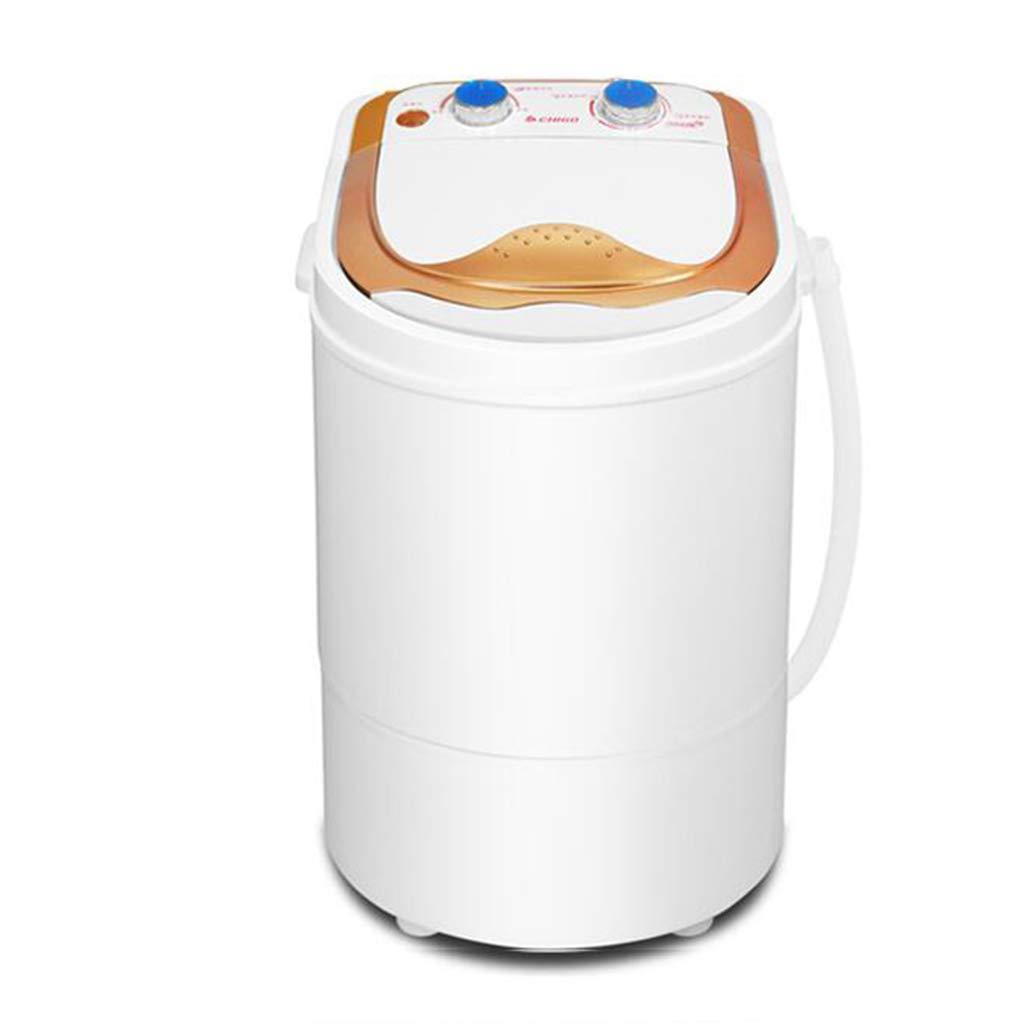DINJUEN ミニ洗濯機小型シングルバレル寮自動機 (色 : ゴールド)  ゴールド B07GDN6VNL