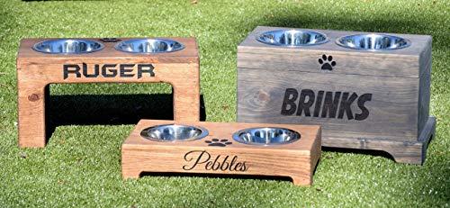 Elevated Dog Feeder and Storage Box - Elevated Dog Bowl - Rustic Dog Bowl Stand - Raised Dog Bowl - Raised Dog Feeder - Pet Bowl - Feeder Dog Food Storage