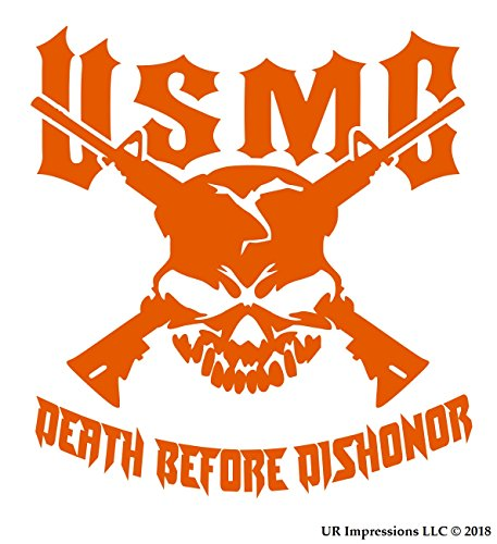 UR Impressions IOrn USMC Death Before Dishonor Skull