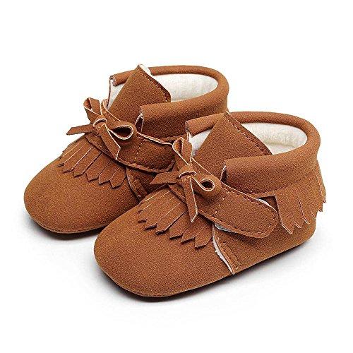 Meses Pasos Nacido Primeros Zapatos Pata Bebe Niño 0 Recien De Patrón Dibujos Zapatillas A18 Niña Antideslizante Animados Marrón FtZtnH1