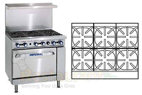 Imperial Commercial Restaurant Range 36'' With 6 Burners 1 Standard Oven Propane Model Ir-6 by Imperial
