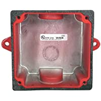 WHEELOCK WBB-R WBB RED FIRE ALARM WEATHER RESISTANT OUTDOOR BACK BOX BACKBOX FIRE SIGNALING; RED