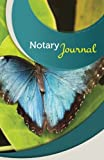 "Notary Journal: 50 Pages, 5.5"" x 8.5"" Beautiful Blue Butterfly"