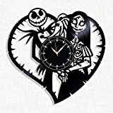 SofiClock Nightmare Before Christmas Vinyl Record Wall Clock 12', The Best Gift for Decor (B) (B)
