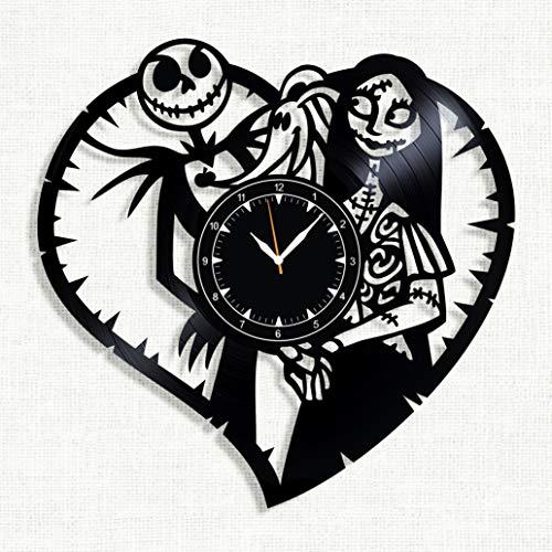 SofiClock Nightmare Before Christmas Vinyl Record Wall Clock