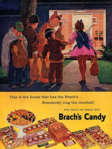 This is the house that has the Brach's Candy ad 1959 Halloween L -