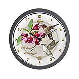 CafePress – Hummingbird Pair – Unique Decorative 10″ Wall Clock For Sale