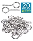 IMScrews Eye Screws 2-1/2 Inch 20Pcs 8/18 Stainless