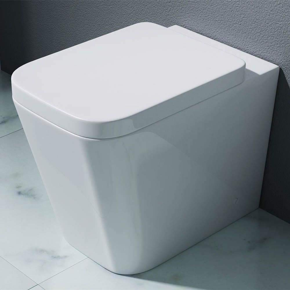 Sorrento Bathrooms Modern Square Design Toilet Floor Pan Back to Wall WC C CERAMICS