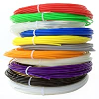 Gizmo Dorks ABS 1.75mm Filament 3D Printer Pen Refill Pack, 20 Feet Per Color with 12 Colors