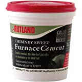 Rutland FSC16 1 Pint Chimney Sweep Furnace Cement, Gray