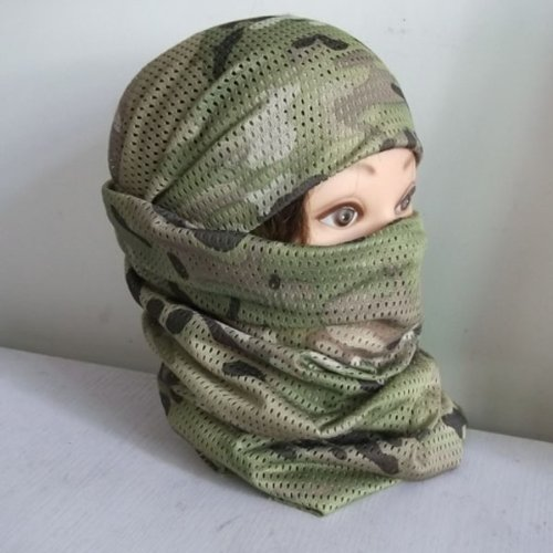 HuntGold Camouflage Fish Net Sniper Cover Head Scarf Veil Face Mesh Neckerchief(Ramdon Camo)