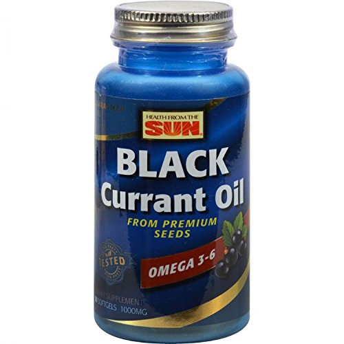 Black Currant 1000, 30 Soft Gels by Health From The Sun by Health From The Sun
