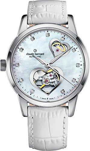 Claude Bernard Ladies-Wristwatch Dress Code Open Heart Analog Automatic 85018 3 NAPN2
