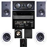 Klipsch R-1650-W In Wall #1 5.1 System(R-2502-WII)-Harman Kardon AVR-1650-FREE PL-200 image