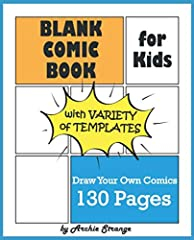 Draw your own Comics with this Blank Comic Book.              This Blank Comic Book is great for anyone who wants to create their own comics, cartoons or storyboard scripts. It perfect for sketching and drawing comic strips. ...