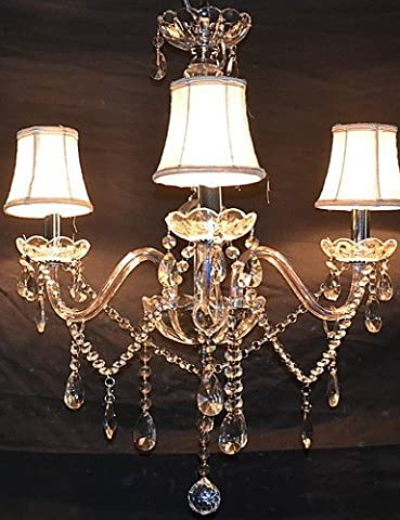 Wrought iron chandelier,Glass lighting,LED pendant lamp,Crystal pendant lamp,colored pendant luminairesModern Splendid 3 Lights Chandelier With Crystal Arm , - Maple Three Pendant Light