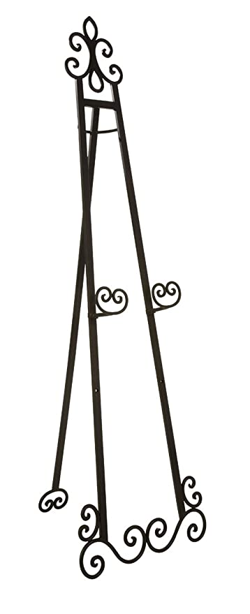Amazon.com: Imax 10783 Utica Floor Easel in Black - Wrought Iron ...