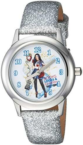 Disney Girl's 'Descendants 2' Quartz Stainless Steel Casual Watch, Color:Silver-Toned (Model: WDS000249)