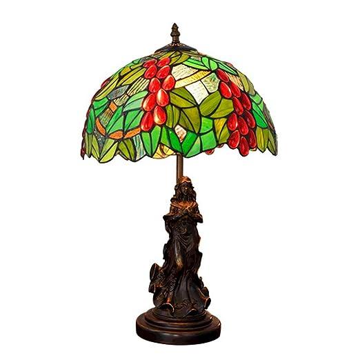 HLGY Lámpara Tiffany - Manchado Vidrio Y Cristal De Frutas ...