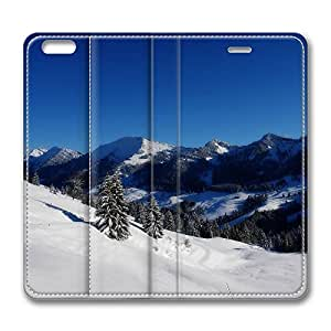 iPhone 6 Leather Case, Personalized Protective Flip Case Cover Winter Panorama for New iPhone 6