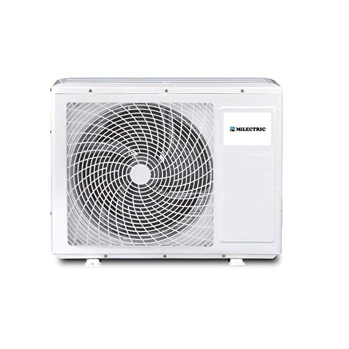 51BvnCCDf0L Aire acondicionado MILECTRIC tipo SPLIT 3500 FRIGORIAS Clasificación energética A++ Rngo de temperaturas de trabajo es: Frio de -15º a 30ºC y Calor de 16º a 49ºC
