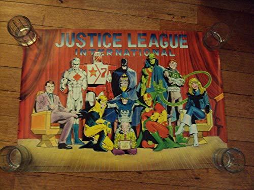 Rare Justice League International Movie Poster DC Comics 1987 21X30 ()