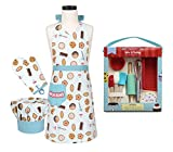 Child's Apron, Chef Hat and Mitt and Intro to Baking Cooking Set