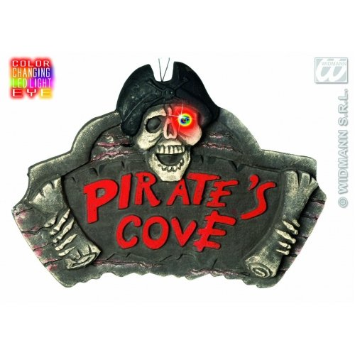 (Pirate Cove Signs With Changing Color Eye Accessory For Bucaneer Fancy Dress)