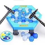 Qiyun Interactive Table Desktop Game Breaking Ice Cube Block Pounding Save Penguin Puzzle Toys