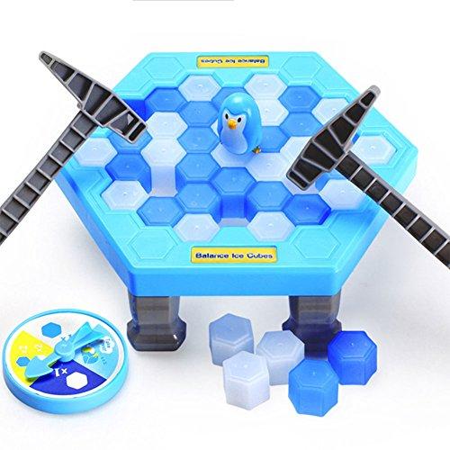 RaiFu クラッシュアイスゲーム おもちゃ 家族&友人に向けゲーム 大人気 人気ゲーム ペンギン アイスゲーム インタラクティブ テーブル デスクトップ ゲーム アイスキューブ ブロック ペンギンパズル