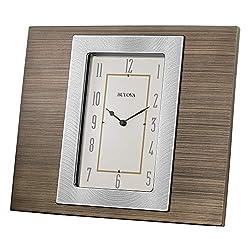 Bulova B1237 Brockton Tabletop Clock Brown