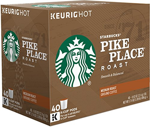 Starbucks Keurig Pikes Place 40 Count
